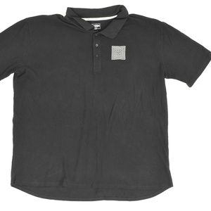 Lulu Roe Big & Tall 3XL Black   Polo Cotton solid